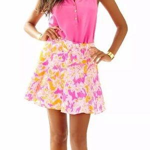 • lilly pulitzer levi fit and flare skirt •